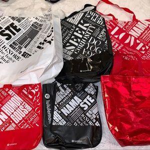 Lululemon Reusable Shopping Bag Tote Set of 6
